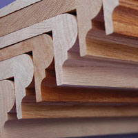 Stack of Wood Stair Tread Covers